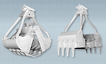 Cable Operated Tine Type Incinerator Grabs