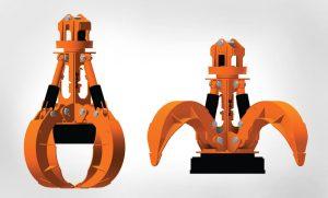 Mack Orange Peel Four Tine Magnet Grapple